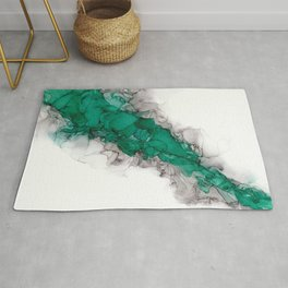 Study in Green Rug