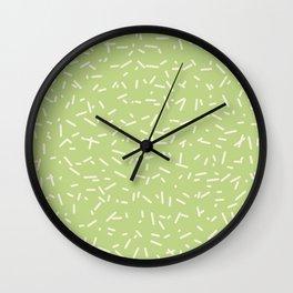 Chaff pattern - lemon Wall Clock