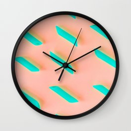 Neon Abstract Pasta Noodles Pattern (Color) Wall Clock