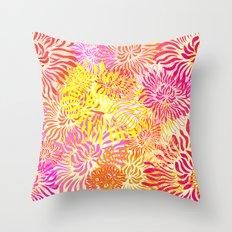 Flower Cracker Throw Pillow