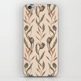 Poppy Pod Pattern iPhone Skin