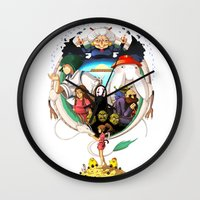 spirited away Wall Clocks featuring Spirited away by Collectif PinUp!