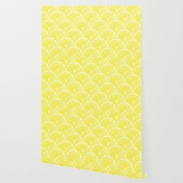 Lemon slices pattern design II Wallpaper