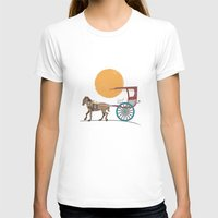 philippines T-shirts featuring The Philippines' Kalesa by Owen Ballesteros