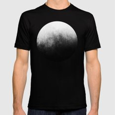 Abstract IV MEDIUM Black Mens Fitted Tee