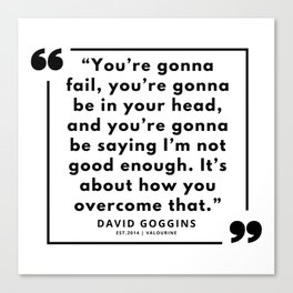 60  | David Goggins Quotes | 190901 Canvas Print