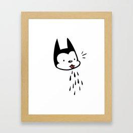 raspberry cat Framed Art Print