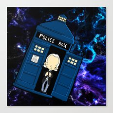 Tardis in space Doctor Who 1 Canvas Print