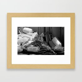 Buoys in the Sun Framed Art Print