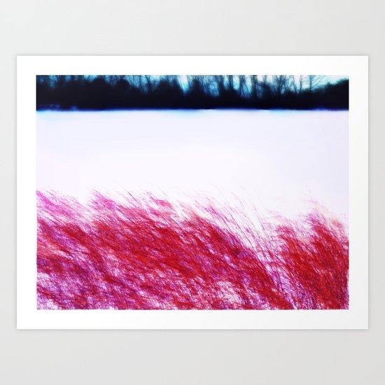 Abstract ~ Winter splashing ~\ Art Print