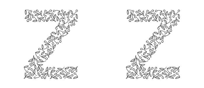Floral Alphabet // The Letter Z Coffee Mug