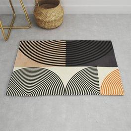 lines & shapes III - abstract geometric Rug