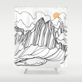 Snowpatch and the Col :: Bugaboos Shower Curtain