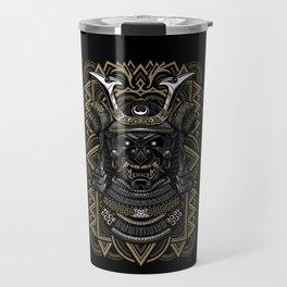 Samurai mask Travel Mug