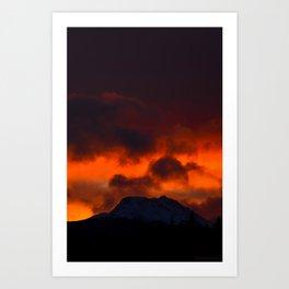 Fire Red Sunrise Art Print