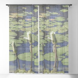 Lily Pond Sheer Curtain
