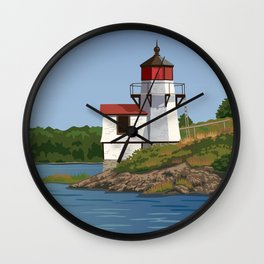Squirrel Point Lighthouse Maine Wall Clock