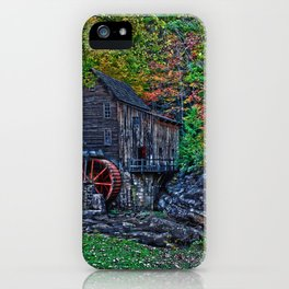 Old Grist Mill Babcock State Park WV iPhone Case