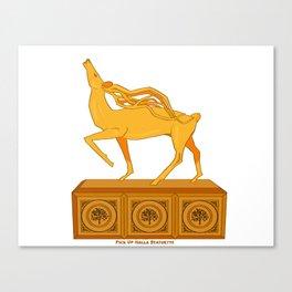 Halla statuette gold Canvas Print