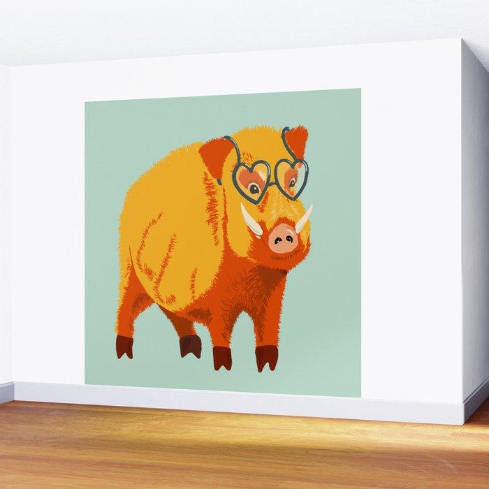 Benevolent Boar Wall Mural