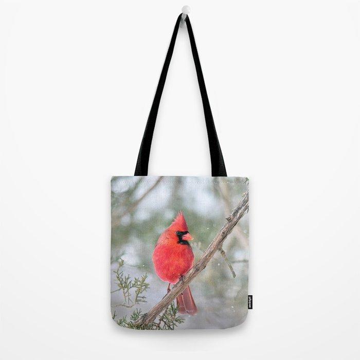 Winter's End Cardinal Tote Bag