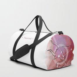 Taurus zodiac sign constellation Duffle Bag