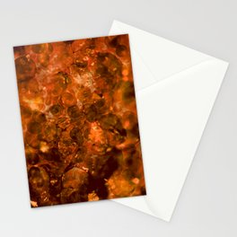 Amber Crystal Lights Stationery Cards