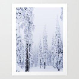 snowy trees Art Print