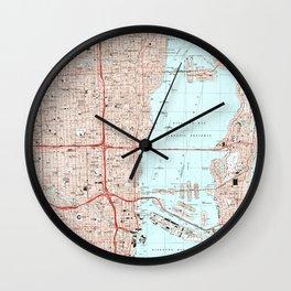 Miami Florida Map (1994) Wall Clock