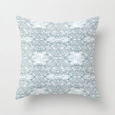 Lace Geometric // Kaleidoscope of blues Throw Pillow