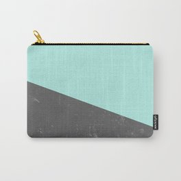 Marble Geometric Bright Mint Gray #5 #decor #art #society6 Carry-All Pouch