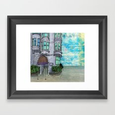 San Fran Corner Framed Art Print