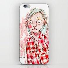 RED SHIRT iPhone & iPod Skin