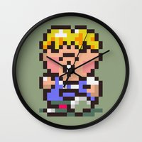earthbound Wall Clocks featuring Pokey Minch - Earthbound/Mother 2 by Studio Momo╰༼ ಠ益ಠ ༽