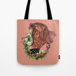 Flower puppy Tote Bag