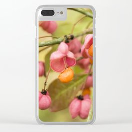 Pink and orange Clear iPhone Case