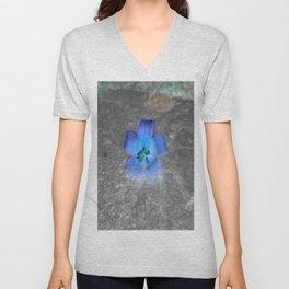 flower in blue Unisex V-Neck