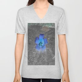 flower in blue Unisex V-Neck