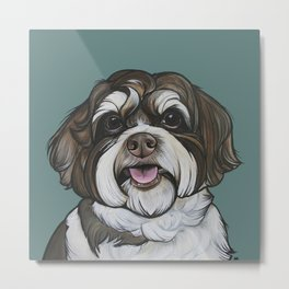 Wallace the Havanese Metal Print