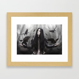 Jackdaw Framed Art Print