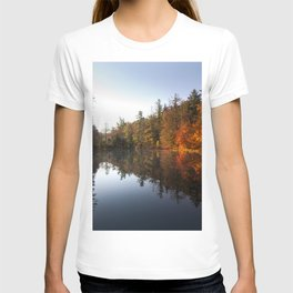 Mirrored Lake in Fall T-shirt