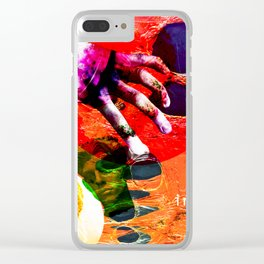 look in the junk pool Clear iPhone Case