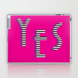 YES Poster | Pink Stripe Pattern Laptop & iPad Skin