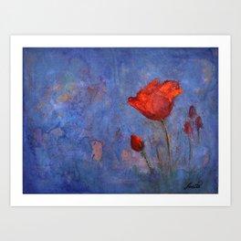 The flower Art Print