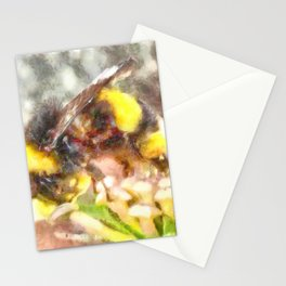Busy Busy Busy Watercolor Stationery Cards