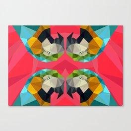 TRIPPY PARROT Canvas Print