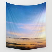 spanish Wall Tapestries featuring Spanish Skies by Chloe Gibb