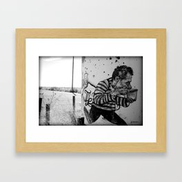 Man With Soup Framed Art Print