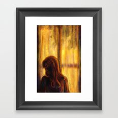 Under the Window Framed Art Print