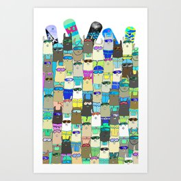 Snow? No Prob-Llama Alpaca My Board Art Print